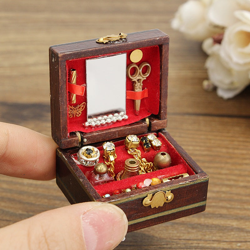Dollhouse Miniature Wooden Jewelry Box