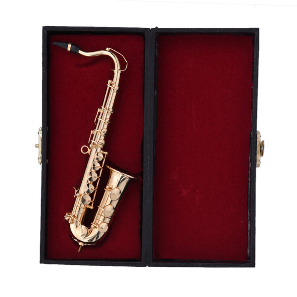 Miniature Saxophone with Metal Stand