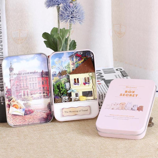 The Meaning of Travel dollhouse miniature diy kit box