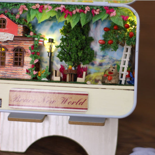 Dollhouse Miniature Brave New World DIY Box
