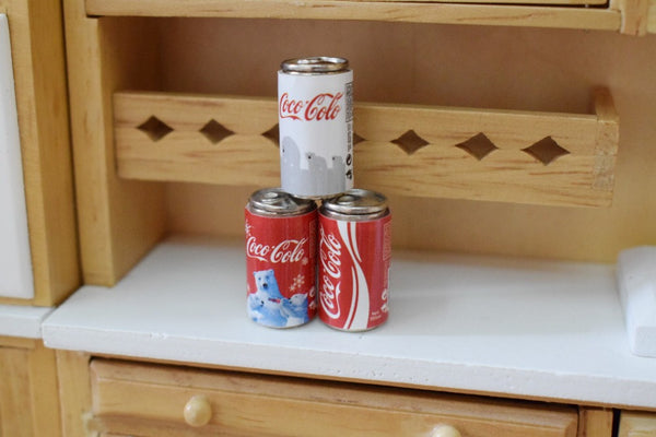 Dollhouse miniature coca cola