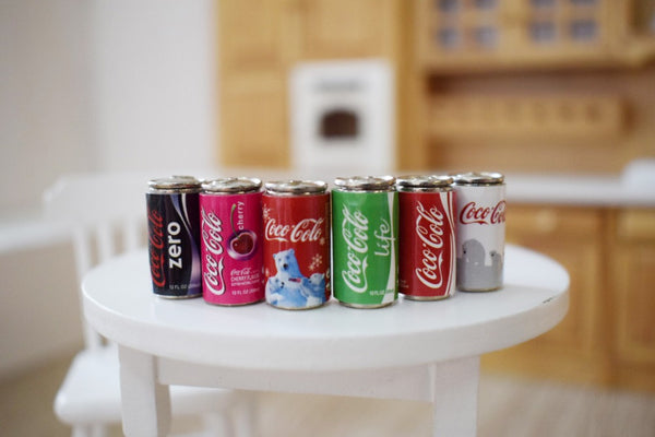 Dollhouse miniature cans 1:12 scale