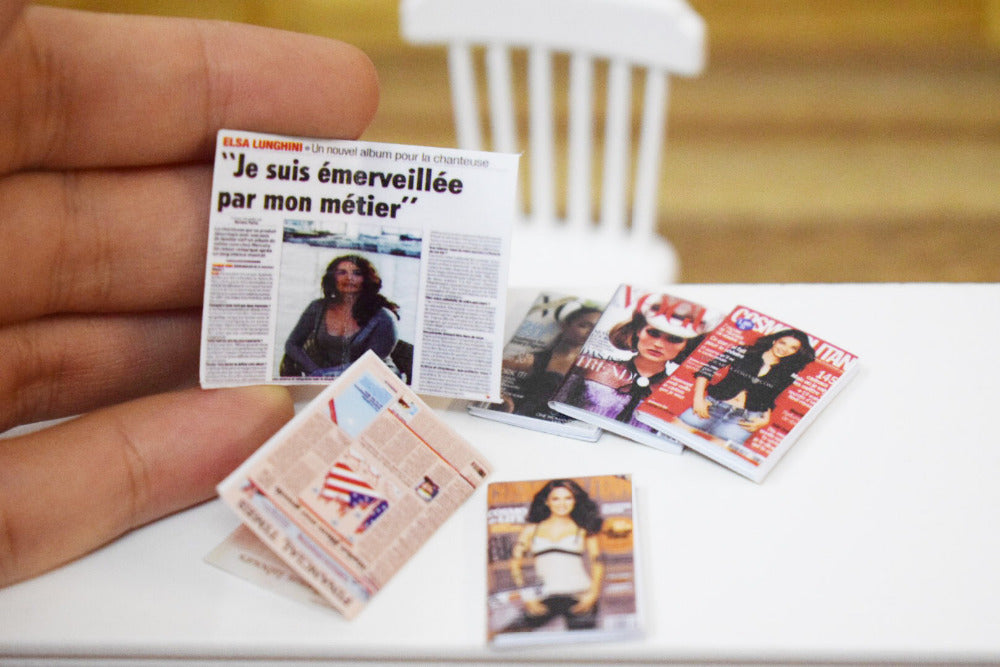 Miniature Magazines and Newspapers (6 pcs/set)