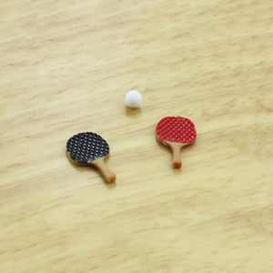 Miniature Table Tennis Bats with Ball (1/12 scale)