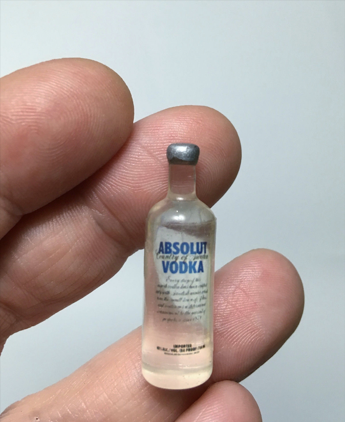 Miniature Vodka Bottles 1:6 scale (4 pcs)