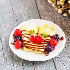 Strawberry Crepes with plate Miniature