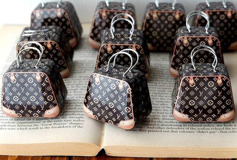 Miniature Louis Vuitton Suitcase (1:6 scale)
