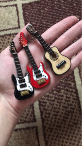 1:12 scale dollhouse miniature guitars