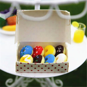 Miniature Donuts in Bakery Paper Box