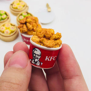 Dollhouse miniature KFC bucket 1:12 scale