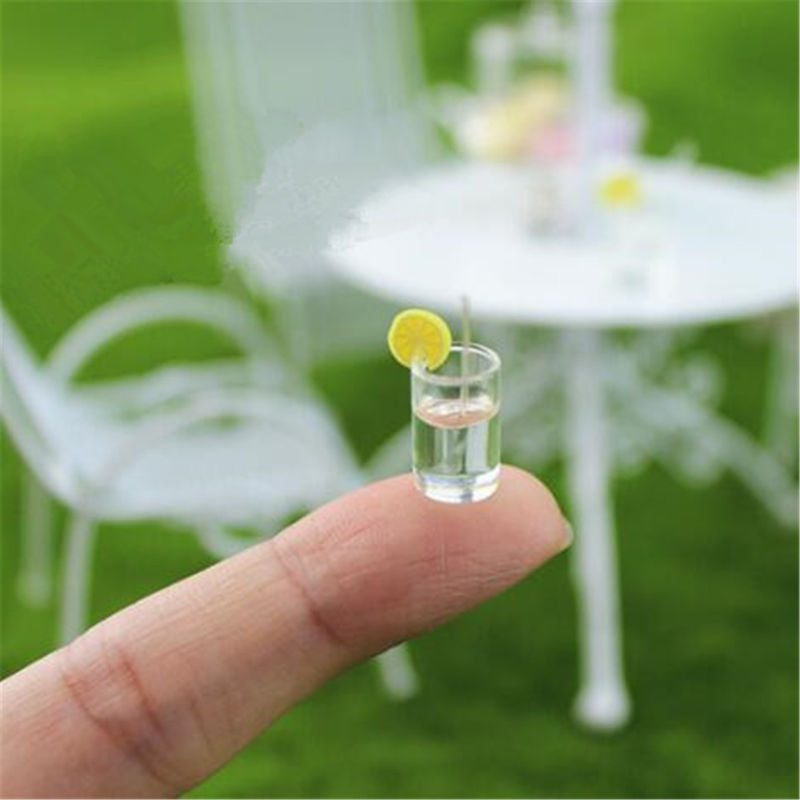 Miniature Lemon Water glasses