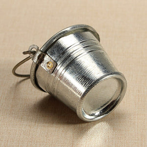 Small miniature metal bucket