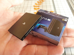 Miniature 3D Playstation 4 with Box