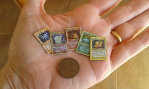 1:12 Miniature Pokemon Cards (5 pcs)