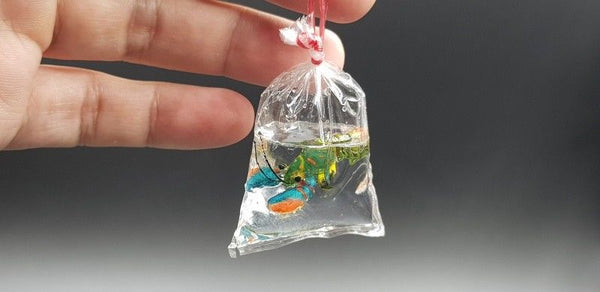 Miniature Lobster in Plastic Bag Multi Color