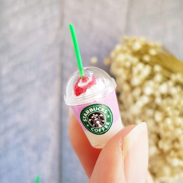 Doll house Miniature Starbucks Mixed Cups