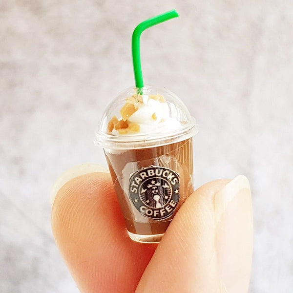 Miniature Starbucks Ice Chocolate Coffee Cups