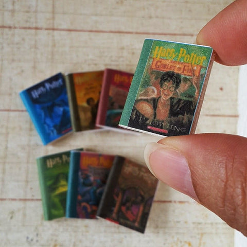 Dollhouse Miniature Harry Potter Books 1:12 scale