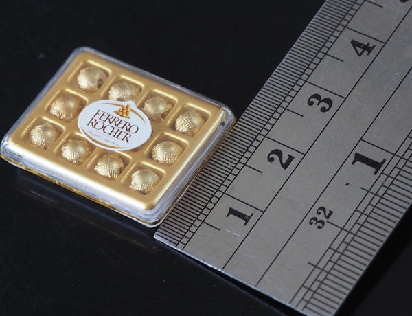 1:12 Dollhouse Miniature Ferrero Rocher Chocolate Box (rectangle)