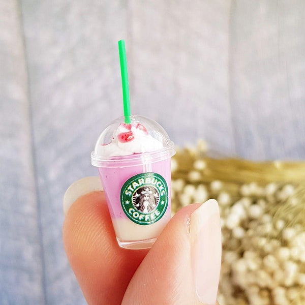 Miniature Starbucks Ice Coffee Cups