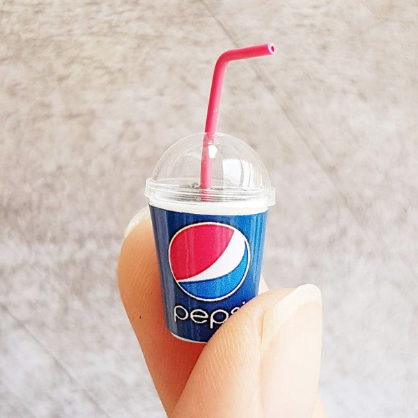Dollhouse Miniature Pepsi cup bucket drink
