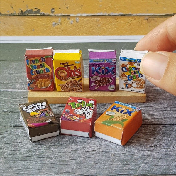 Dollhouse Miniature Cereal Packaging