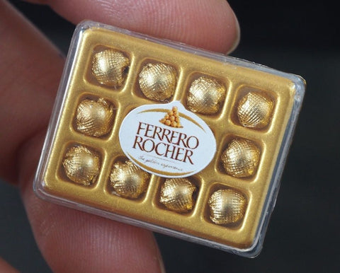 Dollhouse Miniature Ferrero Rocher Chocolate Box
