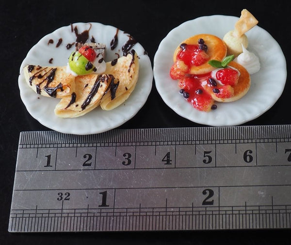 Dollhouse Miniature Crepes and Pancakes