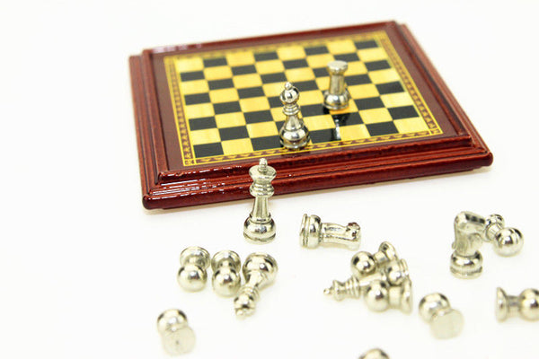Doll house miniature chess