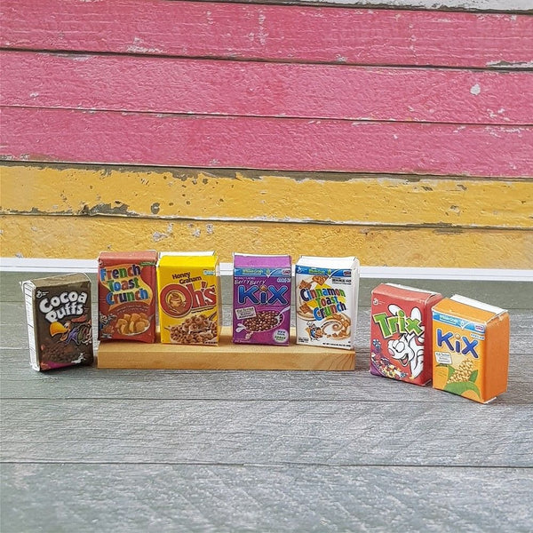 Dolls house Miniature Cereal Packaging