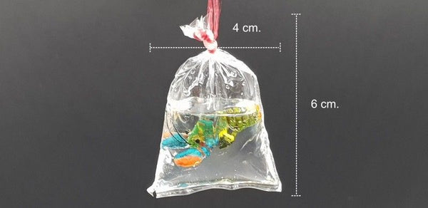 Miniature Dollhouse Lobster Plastic Bag