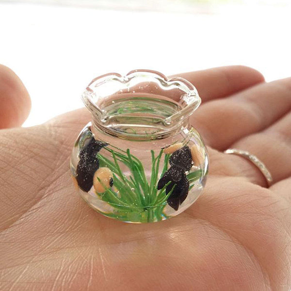 1:12 Dollhouse Miniature Fish Bowl