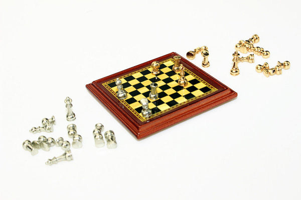 miniature dollhouse chess set