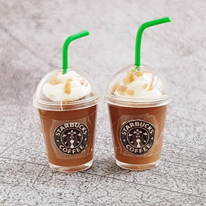 2x Miniature Starbucks Ice Chocolate Coffee Cups