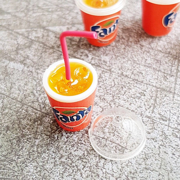 1:12 scale dollhouse miniature fanta orange