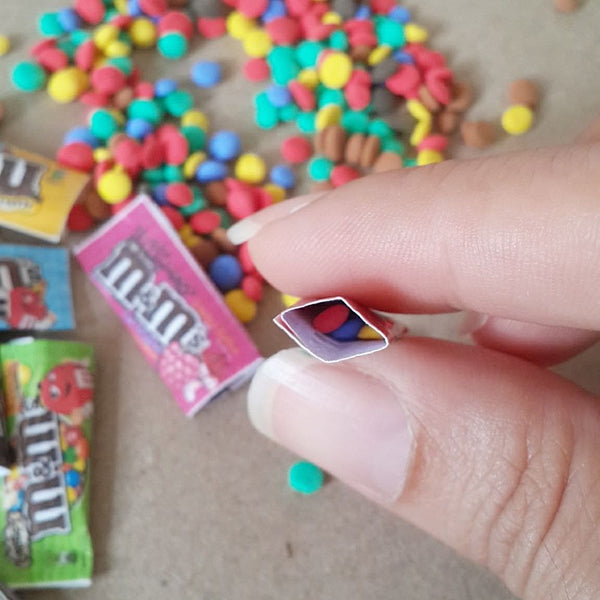 Miniature Dollhouse M&M chocolate bars