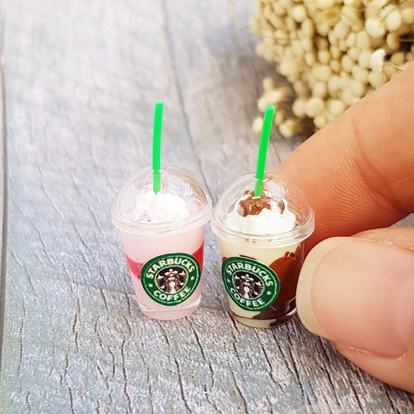 1/12 scale Dollhouse Miniature Starbucks Ice Coffee Frappuccino