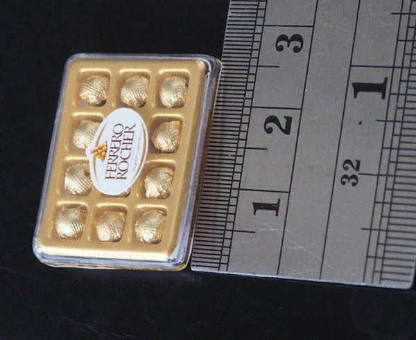 Dollhouse Miniature Ferrero Rocher Chocolate Box (Rectangle)