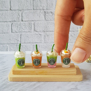 Miniature Starbucks Ice Coffee Cups set #2 (4 pcs)