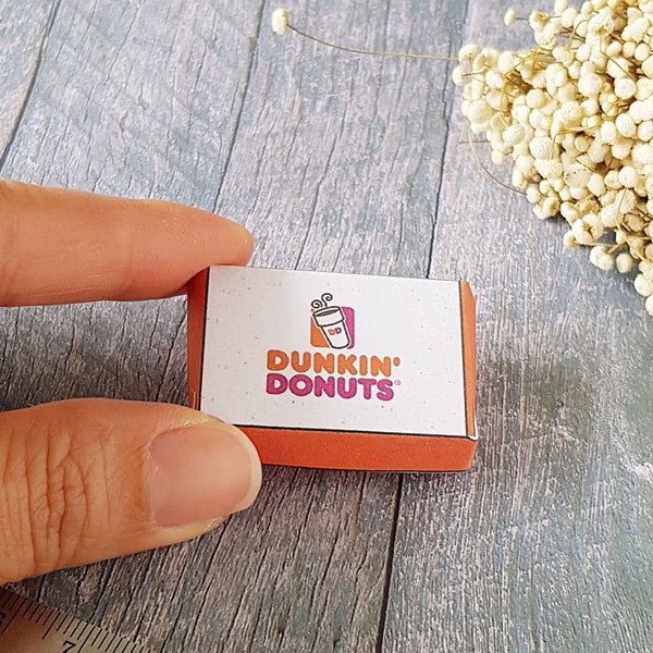 Dollhouse miniature dunkin donuts box