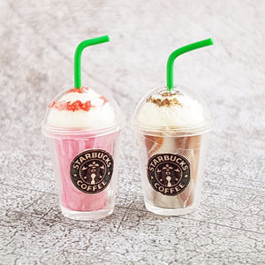 Dollhouse Miniature Starbucks Frappuccino (2 pieces)