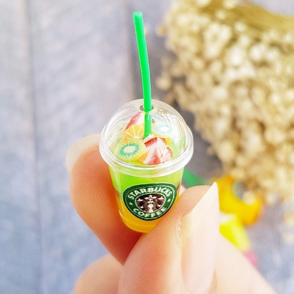 Doll house Miniature Starbucks Ice Juice Cups