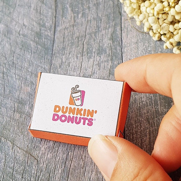 dunkin donuts box for dollhouse miniature