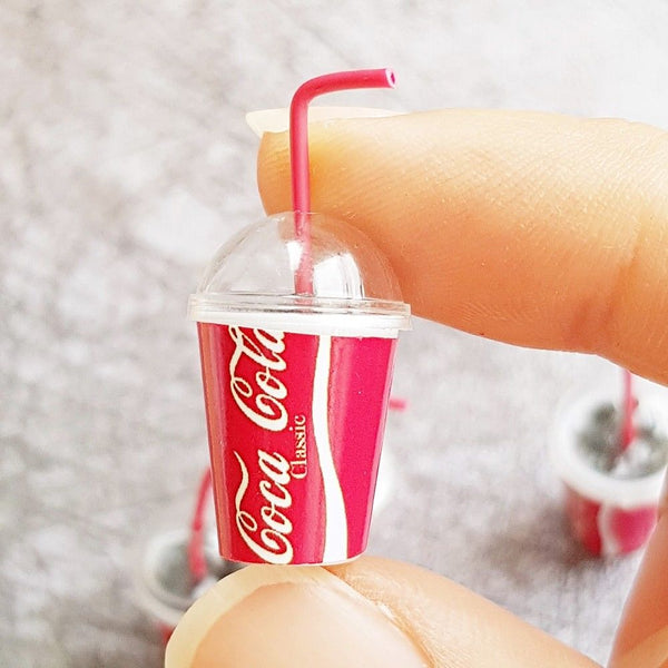 Doll house miniature coca cola drink beverage
