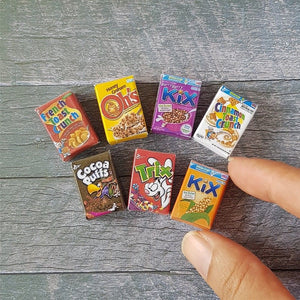 7x Miniature Cereal Packaging