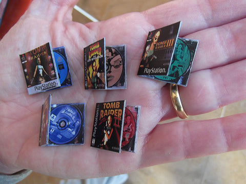 Miniature Tomb Raider Video Games (5 pieces)