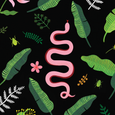 Wildlife Black Gift Wrap