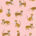 Off Duty Tigers Gift Wrap