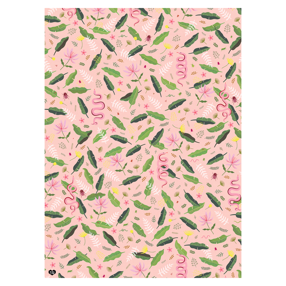 Wildlife Pink Gift Wrap