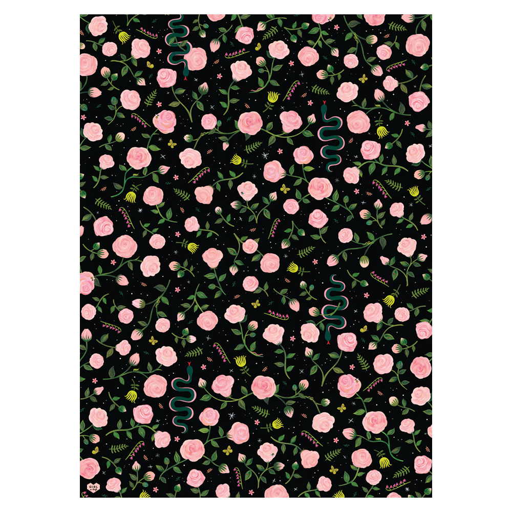 Midnight Botanical Gift Wrap